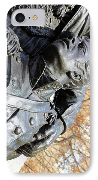One Man's Eyes And Another Man's Hand At The General Kosciuszko Memorial -- 2 IPhone Case
