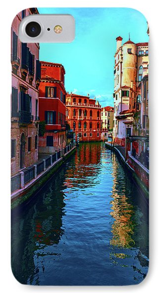 one of the many beautiful old Venetian canals on a Sunny summer day IPhone Case