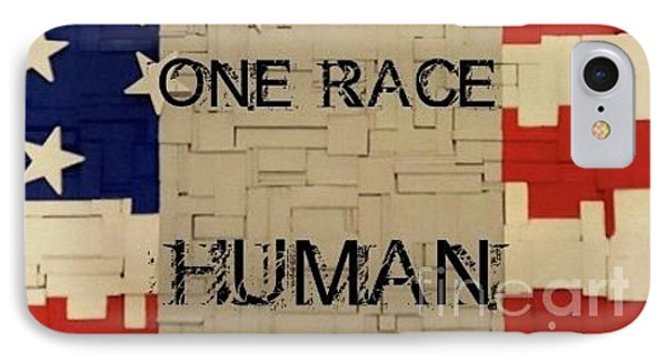 One Race IPhone Case by Judith Finch