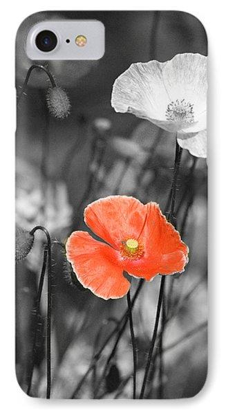 One Red Poppy Phone Case by Bonnie Bruno