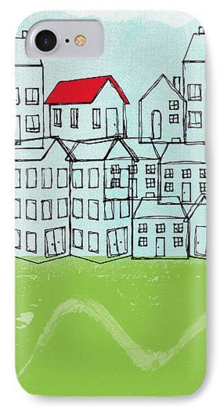 One Red Roof IPhone Case by Linda Woods