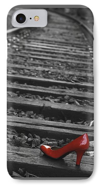 One Red Shoe IPhone Case by Patrice Zinck