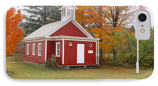 One-room Schoolhouse In Austerlitz IPhone Case by Panoramic Images
