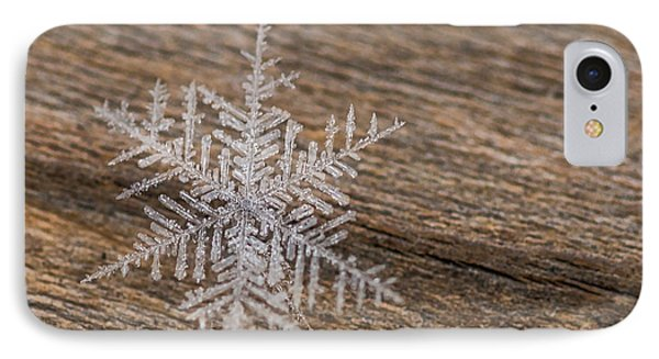 IPhone Case featuring the photograph One Snowflake by Ana V Ramirez
