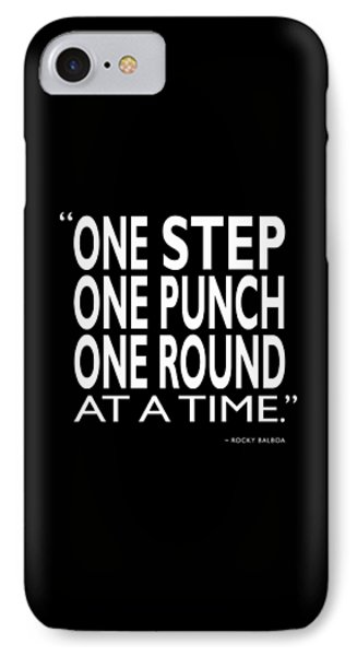 One Step One Punch One Round IPhone Case by Mark Rogan
