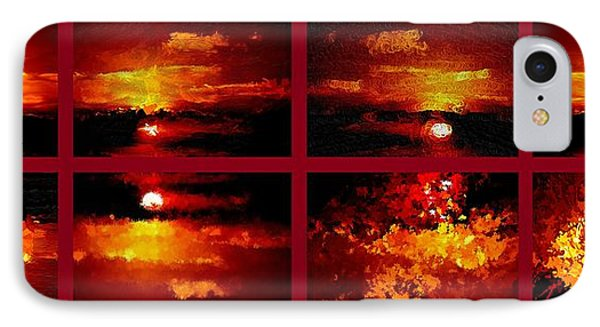 One Sunset Many Interpretations IPhone Case by Bruce Nutting