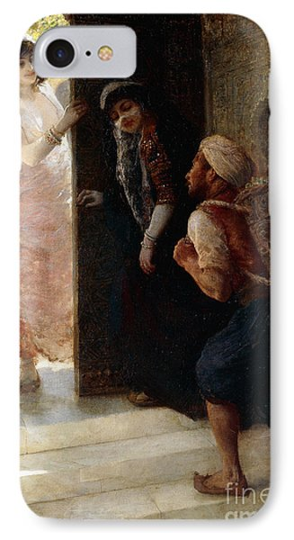One Thousand And One Nights, The Porter Of Baghdad IPhone Case by Edwin Lord Weeks