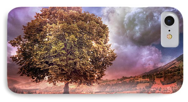 IPhone Case featuring the photograph One Tree In The Meadow by Debra and Dave Vanderlaan