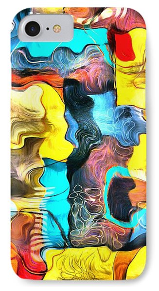 One Up Abstract Panel 2 IPhone Case by Barbara Snyder