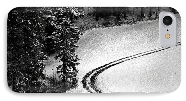 IPhone Case featuring the photograph One Way - Winter In Switzerland by Susanne Van Hulst