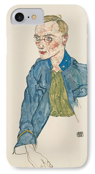 One-year Volunteer Lance-corporal IPhone Case by Egon Schiele