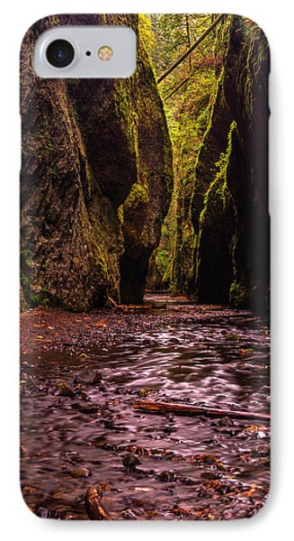 Oneonta Gorge In Fall IPhone Case by Mark Kiver