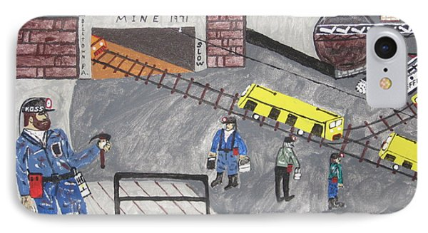 IPhone Case featuring the painting Onieda Coal Mine by Jeffrey Koss