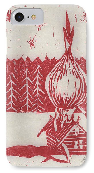 IPhone Case featuring the mixed media Onion Dome by Alla Parsons