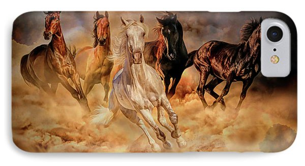 Only Dust From Under The Hooves IPhone Case by Lilia D