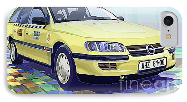 Opel Omega A Caravan Prague Taxi IPhone Case by Yuriy  Shevchuk