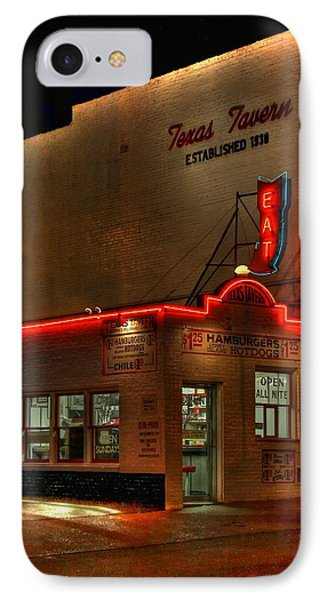 Open All Nite-texas Tavern IPhone Case by Dan Stone