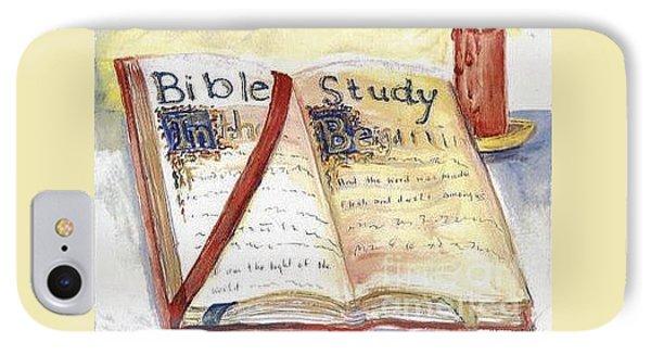 Open Bible Phone Case by Patricia Ducher