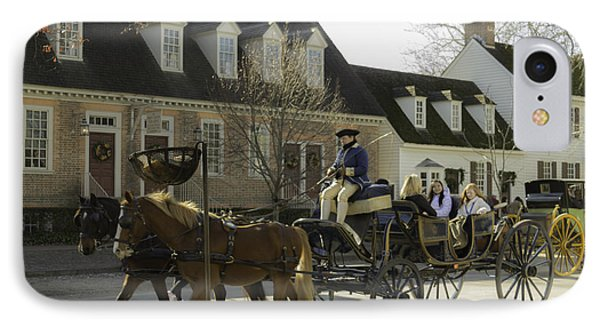 Open Carriage Ride In Colonial Williamsburg Virginia IPhone Case by Teresa Mucha