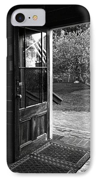 Open Door B-w Phone Case by Christopher Holmes