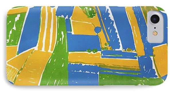 Open Field Yellow IPhone Case