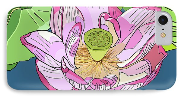 Open Lotus IPhone Case by Jamie Downs