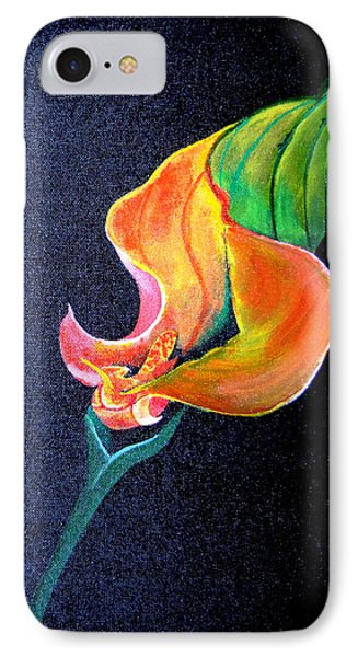 IPhone Case featuring the painting Opening Cala Lily by Gary Smith