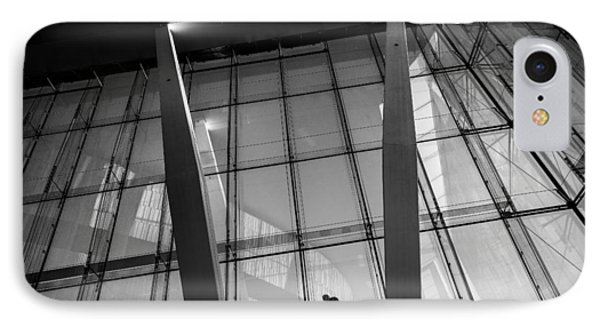 Opera House - Oslo, Norway - Black And White Street Photography IPhone Case by Giuseppe Milo
