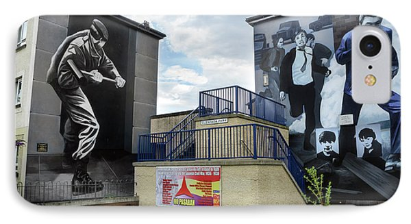 Operation Motorman Mural In Derry IPhone Case by RicardMN Photography