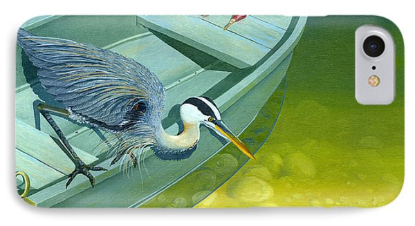 Opportunity-the Great Blue Heron IPhone Case by Gary Giacomelli
