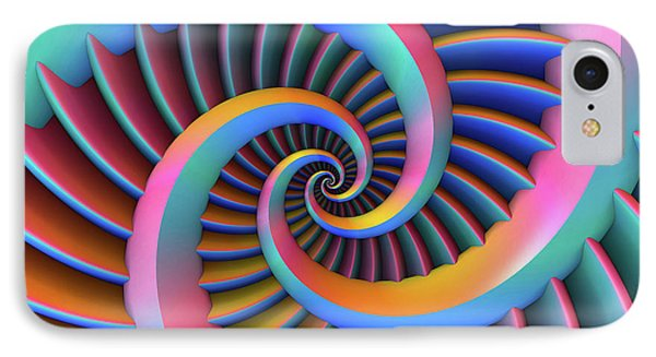 IPhone Case featuring the digital art Opposing Spirals by Lyle Hatch