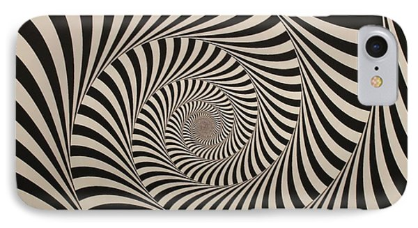 Optical Illusion Beige Swirl IPhone Case by Sumit Mehndiratta