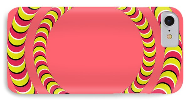 Optical Illusion Circle In Circle IPhone Case by Sumit Mehndiratta
