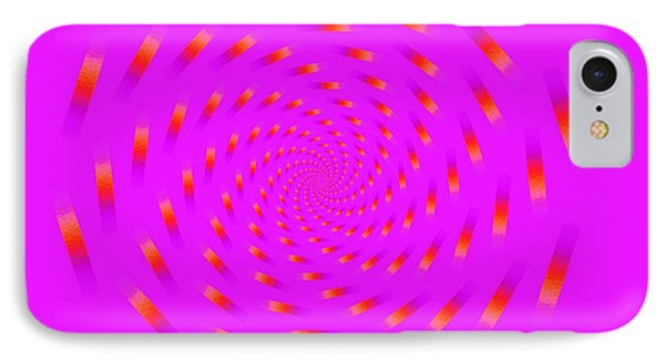 Optical Illusion Spinning Circle IPhone Case by Sumit Mehndiratta