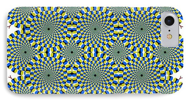 Optical Illusion Spinning Circles IPhone Case by Sumit Mehndiratta