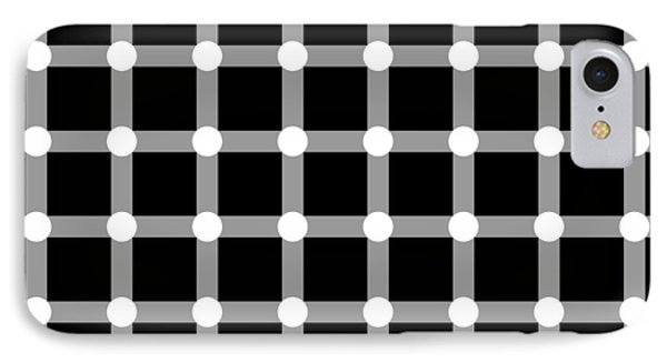 Optical Illusion The Grid IPhone Case by Sumit Mehndiratta