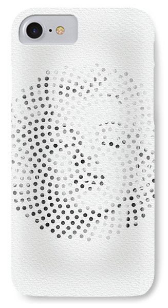 IPhone Case featuring the digital art Optical Illusions - Iconical People 1 by Klara Acel