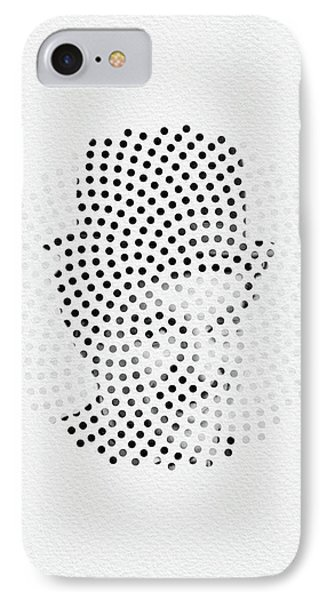 IPhone Case featuring the digital art Optical Illusions - Iconical People 2 by Klara Acel