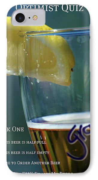 Optimist Quiz Phone Case by Lisa Knechtel