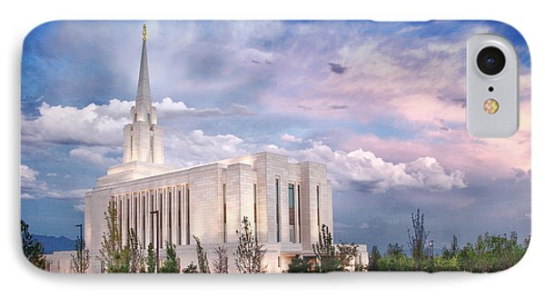 Oquirrh Mt Temple Phone Case by La Rae  Roberts