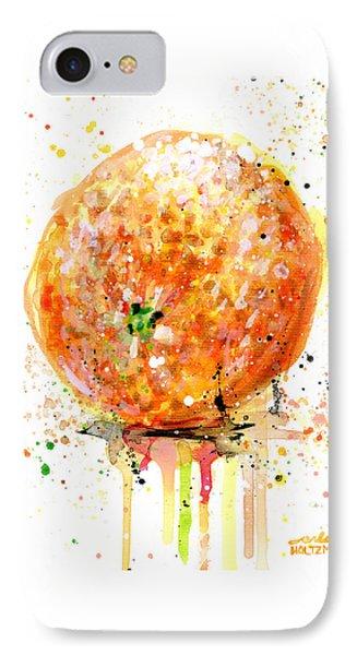 Orange 1 IPhone Case by Arleana Holtzmann