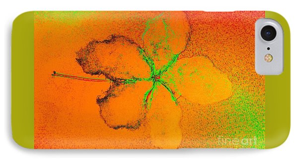 Orange Abstract Flower By Jasna Gopic IPhone Case