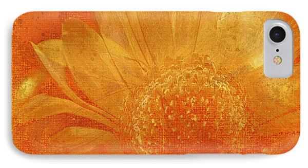 IPhone Case featuring the digital art Orange Abstract Flower by Fine Art By Andrew David