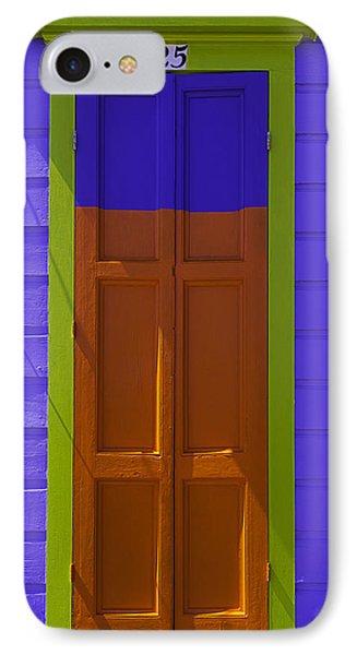 Orange And Blue Door IPhone Case