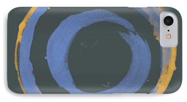 Orange And Blue1 Phone Case by Julie Niemela