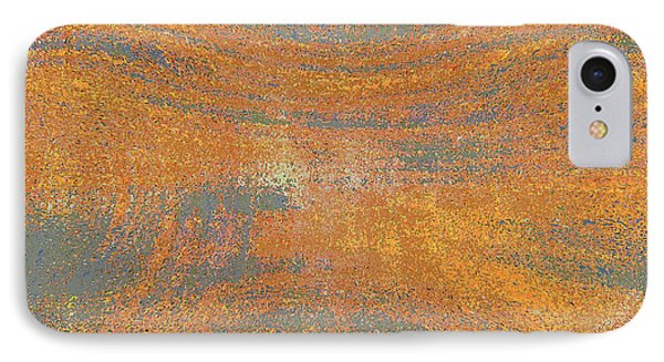 Orange And Gray Abstract IPhone Case by Carol Groenen