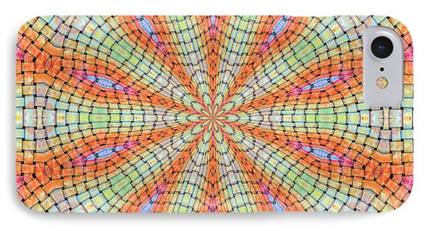 IPhone Case featuring the digital art Orange And Green by Elizabeth Lock