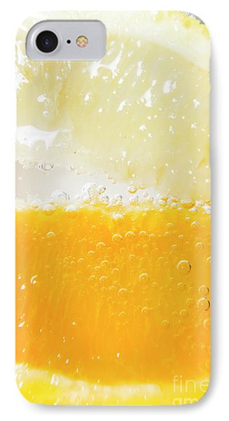 Orange And Lemon In Cocktail Glass IPhone Case by Jorgo Photography - Wall Art Gallery