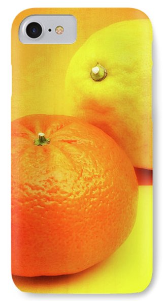 Orange And Lemon IPhone Case by Wim Lanclus