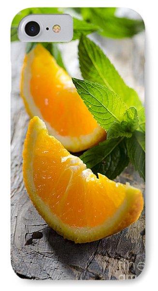 Orange And Mint IPhone Case